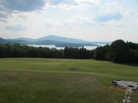 Lodge at Moosehead Lake: View from backyard of Lodge.