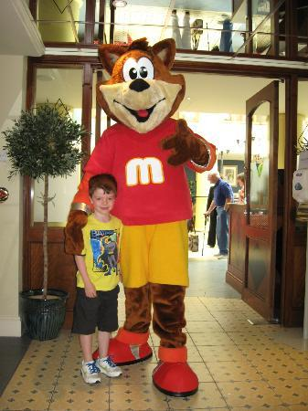 Luke with Max at the Merton Hotel
