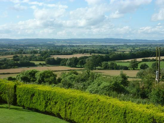 Stinchcombe, UK : View from Tryfan B&B overlooking the river Severn Valley