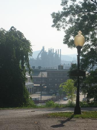 "View of ""The Stacks"" from the Sayre Mansion Inn"