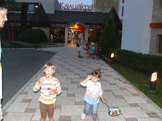Hotel Kaliakra: главный вход в отель 