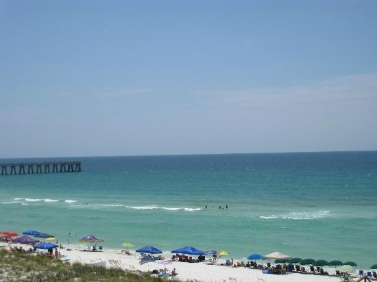 The Pearl of Navarre Beach: View from the balcony on 4th floor.