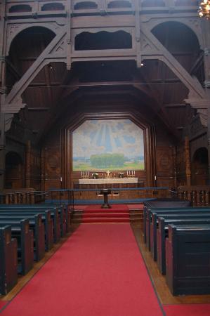 Kiruna Kyrka: Church in Kiruna, interior view