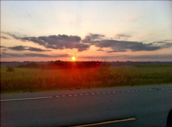 Branding Iron Supper Club: sunset you will see on the way home.