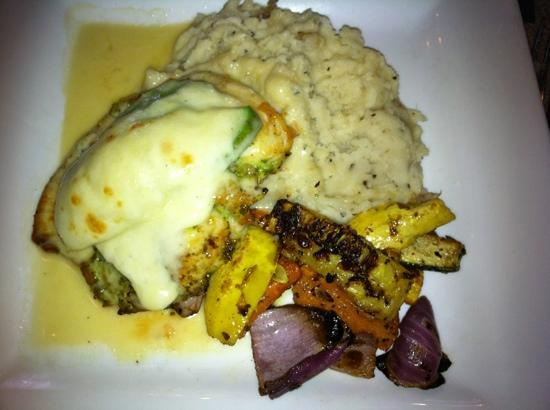 Clear Fork Station: Pan roasted chicken with avacado
