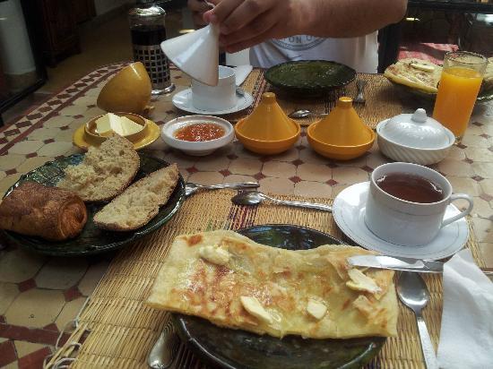 Riad Ineslisa: Desayuno
