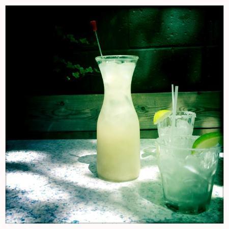 Hacienda Restaurant : Half liter margaritas.
