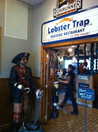Lobster Trap Restaurant : captain hook!