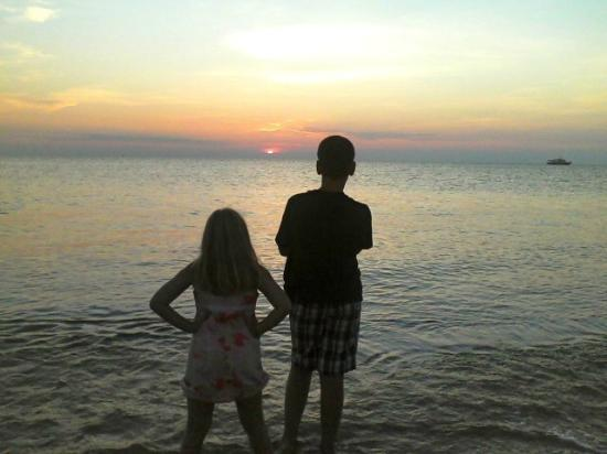 Picture of my kids on Sunset Beach