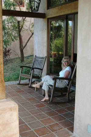 Villas de Palermo Hotel & Resort: Back porch of our villa