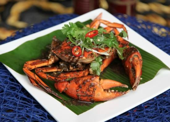 Beach Almond Beach House: Singaporean Chilli and Black Pepper Live Mud Crab