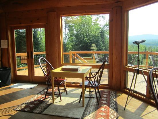 Bear Mountain Lodge : Game tables and view of outdoors