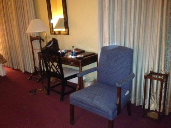 The Lafayette Hotel: the chair was dirty and see the rip on the side