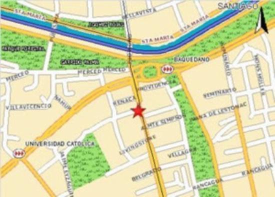 Apart Hotel Principado: Map