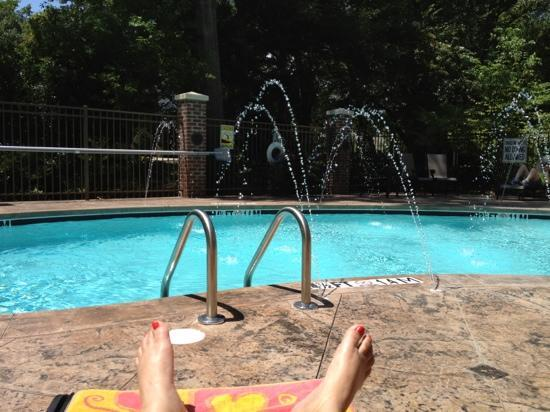 Holiday Inn Express Hotel & Suites Mt Pleasant-Charleston: Pool Area with Sprinklers...how cool!