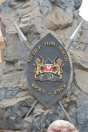 Plaque at Tom Mboya Statue
