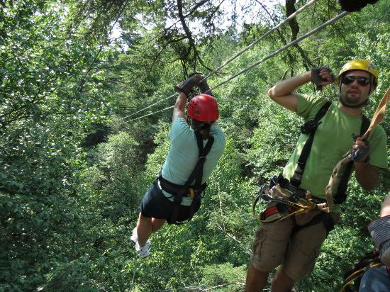 Adventures on the Gorge: away you go, Treetop Canopy Tour 7-18-12
