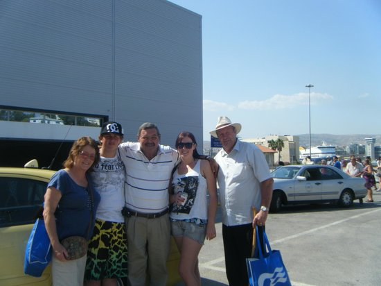 Taxi Tours - Jordan Daioglou: Jordan and our family dockside in Athens July 2012