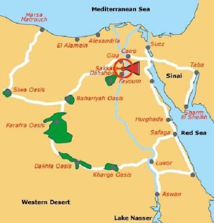 Map Picture Of Cataract Pyramids Resort Giza TripAdvisor - Map of egypt giza pyramids