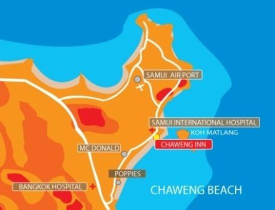 Chaweng Inn: Map