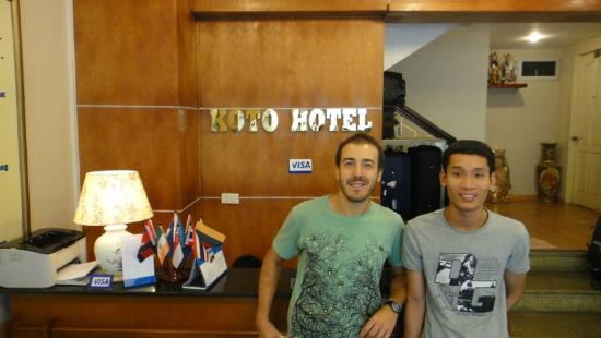 KOTO Hotel: me and a very friendly member of staff