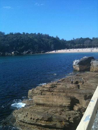 Shelly Beach: getting closer
