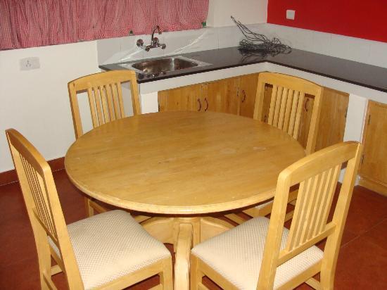 Camp Noel: Dining inside the Cottage