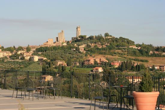 Relais Cappuccina: Aussicht von der Dachterrasse des Restaurants