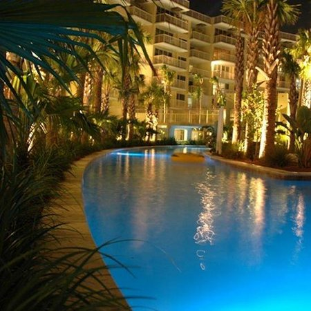 Destin West Beach And Bay Resort Lazy River Night Shot