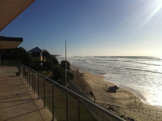 Coolum Surf Club: Looking north from the deck