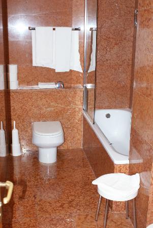 Hotel Europa Skypool & Panorama: Good sized bathroom