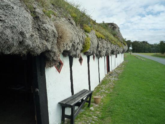 Laeso Museum: Indgangsparti til Museumsgården Læsø