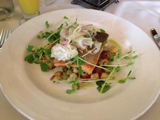 The Parlour : trout with celeriac hash and fennel slaw
