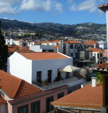Hotel Madeira: View toward the hills behind Funchal