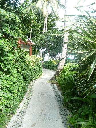 Baan Chaweng Beach Resort & Spa: Just along the path and you are on the beach!!