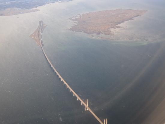 Øresundsbron : Öresund-Brücke aus der Luft
