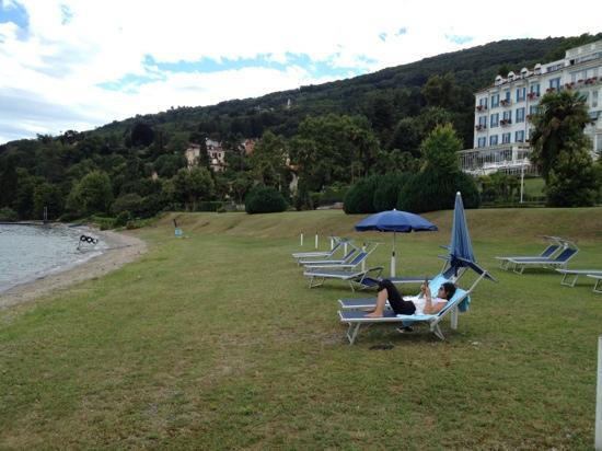 Lido Palace Hotel: moglie in spiaggia