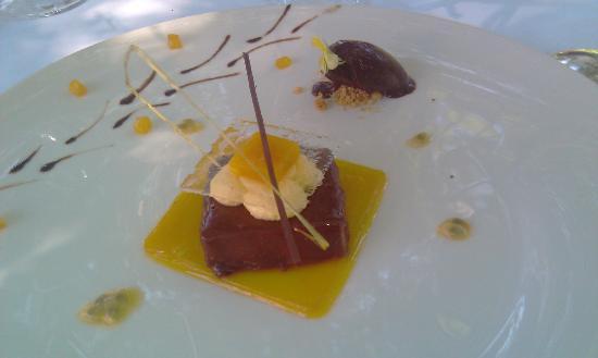 Hôtel les Frères Ibarboure : Délicieux dessert au chocolat Guanaja