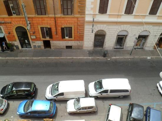 Ines B & B: View from the Room overlooking the street