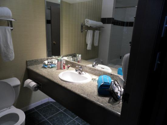 Executive Hotel Vintage Park: Bathroom. Large shower / bath unit.