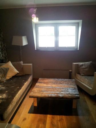 Rosenmeer Hotel & Restaurant: Lounge Bereich in der Suite