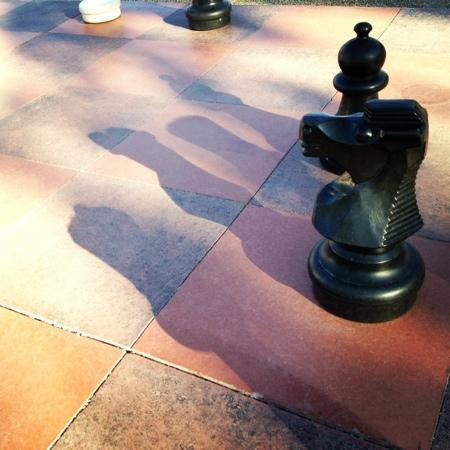 Moab Valley RV Resort & Campground: a giant chessboard..( don't play chess, but it was a nice photo subject