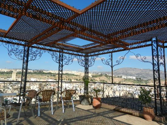 Hotel Bab Boujloud: Upper terrace