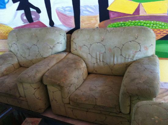 Caribbean World Mahdia: Yes, the common area sofas are really THAT dirty and sticky