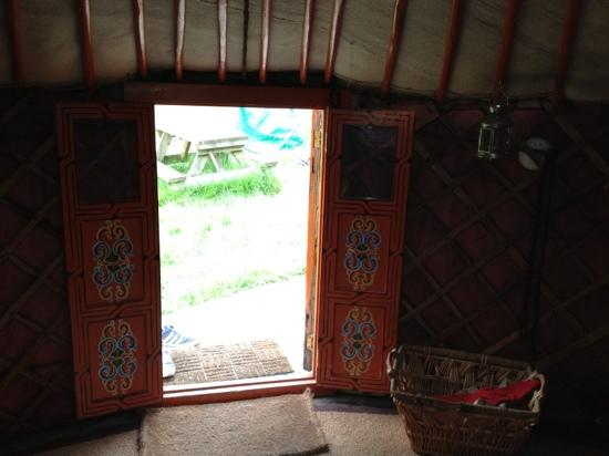 Strawberry Skys Yurts: inside