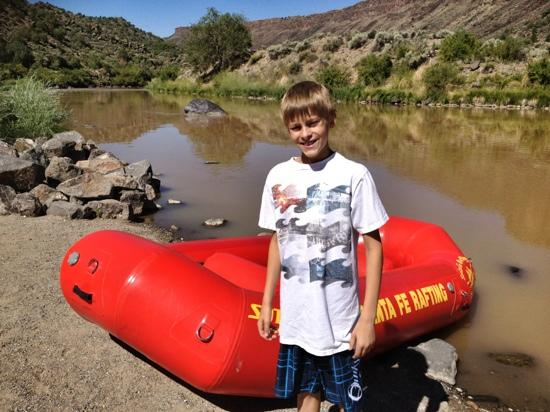 Santa Fe Rafting Company: getting ready for our smooth ride!