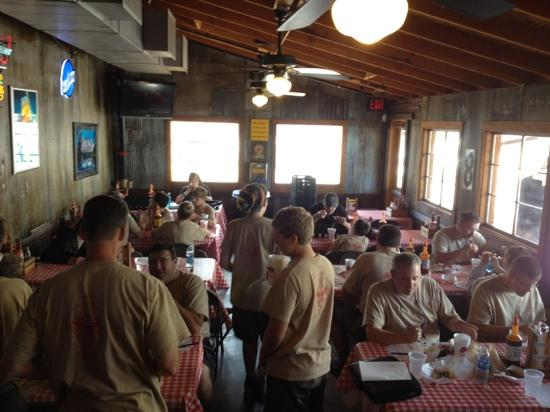 Rudy's Country Store and Bar-B-Q: From League City, TX to Colorado Springs, CO. A home away from home for 41 Boy Scouts.