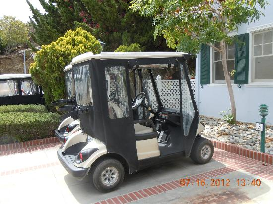 Mt. Ada: Golf carts for our use