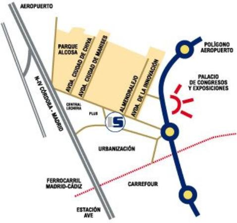 Luxsevilla Palacio: Map