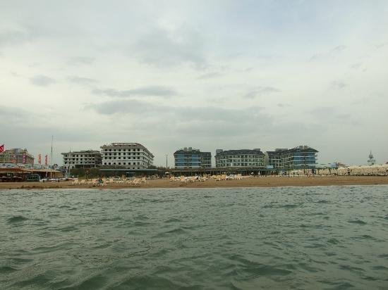 Hotel Sultan of Side: Vue sur la plage